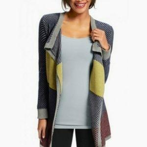 Cabi Colorblock Blanket Cardigan Sweater